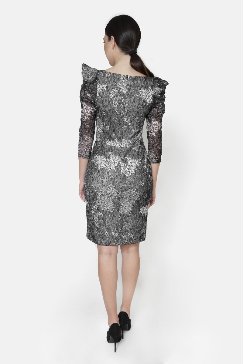 Sukienka z koronki granatowa