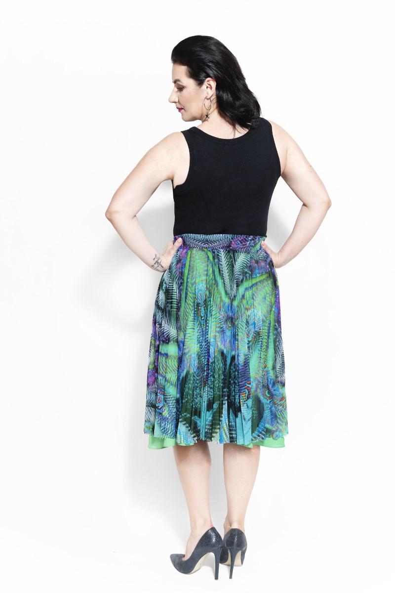 Spódnica plisowana z tiulu